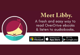 Meet Libby, a fresh and easy way to read Overdrive ebooks and listen to audiobooks.